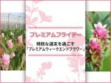 参加者募集【プレミアムフライデー】夏のお花「クルクマ」を使ったトークショー・フラワーアレンジ教室 参加者募集。