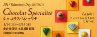 Chocolat Specialite ショコラから生まれるしあわせ。 2019年1月26日(土)~2月14日(木) ※最終日は午後5時閉場 ■小倉店本館8階 催場