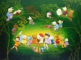 夢の世界をのぞいてごらん ノブ・サチ 油絵展