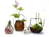遊び心いっぱいの 竹の器と花かご  そして徳地の郷の手漉き和紙だより